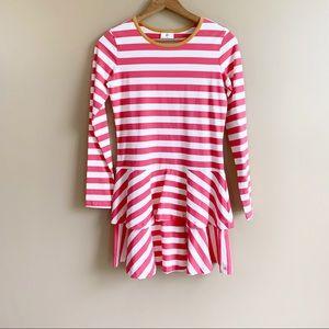 HANNA ANDERSSON stripe long sleeve dress tier 150
